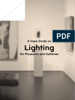 A Case Study on Lighting for Museums and Galleries Final