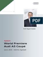 World Premiere Audi A5 Coupé