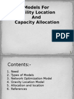 Models for Faqcitlity Loacation and Capactiy Planning20