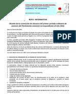 Reseña Ceremonia de Clausura Del Parlamento. PDF