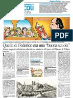 """Quella di Federico era una """"Buona scuola"""" - Il Resto del Carlino del 2 giugno 2016"""