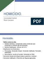 Homicidio Penal III. Ucen.