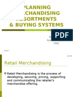 1. Planning Merchandising Assortments