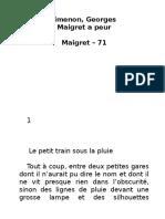 Simenon Maigret 71 Maigret-A-peur RuLit Net