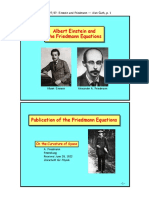 Albert Einstein & Alexandre Friedmann 4 Pp of Slides