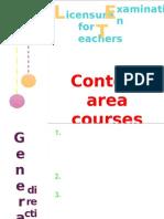 Content Area Courses