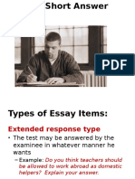Unit 7 Essay Type