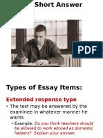 Unit 7 Essay Type
