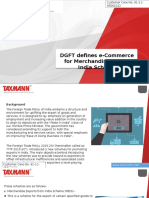 DGFT Defines ECommerce for Merchandise Export India Scheme