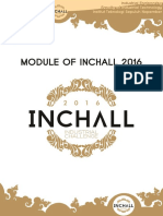 Module and Syllabus of INCHALL 2016