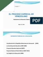 Sistema Curricular Venezolano 2012
