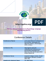 11th International Conference on Teaching, Education and Learning (ICTEL),