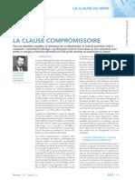 Revue Lamy Droit Civil_Clause Compromissoire