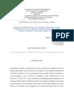 Informe Derecho Procesal Penal Mayo 2016