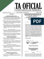 Gaceta Oficial Número 40.916 de la República de Venezuela, 01 de junio de 2016