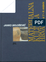 J. Belosevic Materijalna Kultura Hrvata Od 7 Do 9 Stoljeca