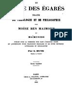 Guide Des Égarés - Tome II (1-50)