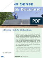 Making Sense of Solar Hot Air Collectors