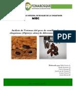 Analisis de Varianza Del Peso de La Semilla de La Almendra Chiquitana