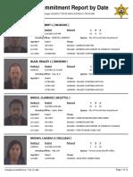 Peoria County Jail booking sheet 6/3/2016