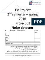 EE 1st Projects - Project 02 - Noise detector