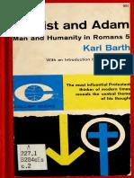 Cristo y Adan, Barth