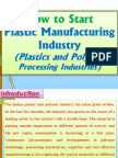 How to Start Plastic Manufacturing Industry (Plastics and Polymer Processing Industries)