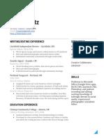 Louie Opatz's Resume
