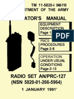 (1991) TM 11-5820-I 048-110 Operator's Manual Radio Set AN & PRC-127