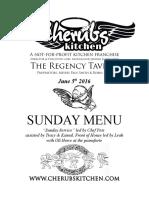 05062016 Sunday Menu - Regency