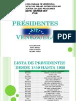 Presidentes d Venezuela