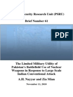 Limited Military Utility of Pakistans