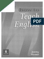 Jeremy Harmer - How to Teach English