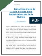 Crecimiento Económico Boliviano a Través de La Industrialización de La Quinua(ECONOMETRIA)