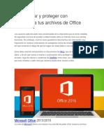 Cómo Cifrar y Proteger Con Contraseña Tus Archivos de Office
