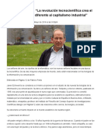 Javier Echeverría_ La Revolución Tecnocientífica Crea El Tecnocapitalismo, Diferente Al Capitalismo Industrial