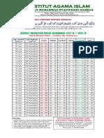 Jadwal Imsyakiyah Ramadhan 1437 H, IAIS Sambas