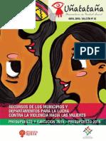 Recursos de los  municipios  y departamentos para la lucha contra la violencia hacia las mujeres