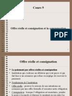 Cours 9_O Réelle Et Consignation Et La Compensation (1)