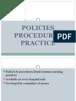 Policies Procedures Practice