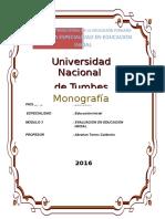 Evaluacion en Educacion Inicial