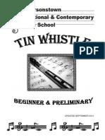 Tin Whistle Preliminary Book