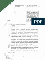 Caso Burga-Extradición Pasiva N.º23-2016 Lima