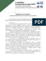 Raport de Activitate Aba Siret 2013