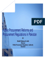 Rules of public procurement rule