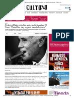 """Federico Pizarro Dedica Una Emotiva Carta a El Pana_ """"Usted Fue,"""