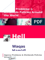 Advanced Corporate Finance PPT about the Agency problems and Dividends policy around the world. By Waqas Hmaidi