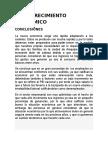CRECIMIENTO ECONÓMICO Recomendaciones y Conclusiones