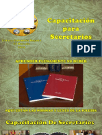 Capacitación de Secretarios 2015