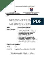 Trabajo de Desmontes Para La Agricultura.